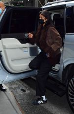 Bella Hadid Spotted out waiting for a rapid COVID test result in New York City