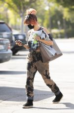Brittany Furlan Grabs something to drink while out running errands in Calabasas