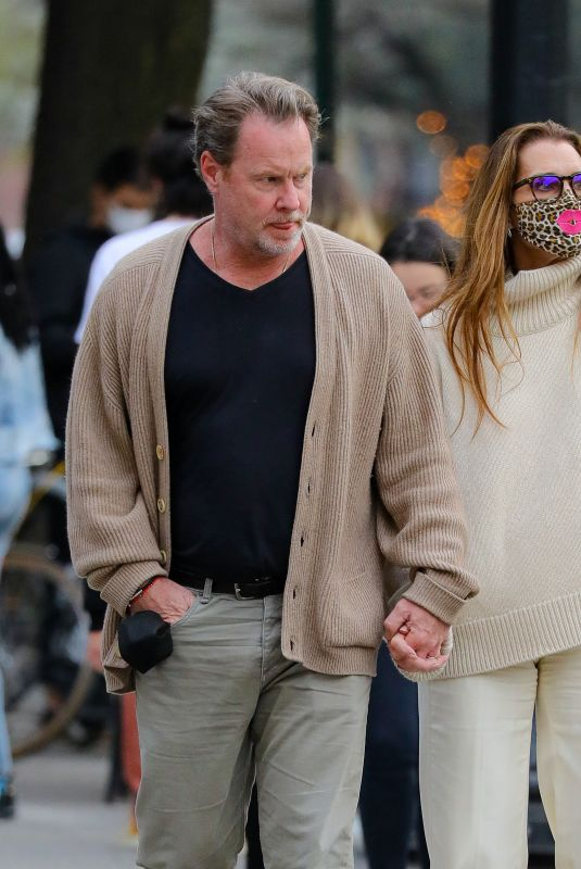 Brooke Shields And husband Chris Henchy are spotted on a date night on a beautiful evening in New York