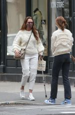 Brooke Shields Spotted out with her family jewelry shopping in New York