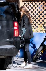 Brooke Shields Waits for Uber while on crutches Greenwich Village, New York