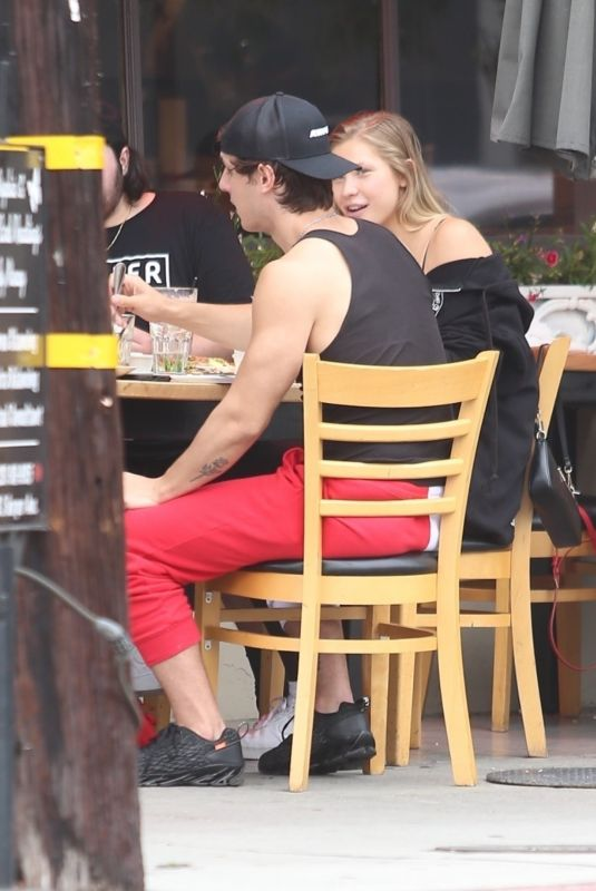 Bryce Hall & Josie Canseco Are spotted out having dinner at Toast LA in West Hollywood