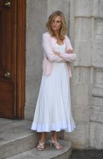 """Camille Cottin On the set of the new Ridley Scott movie """"The House of Gucci"""" out in Rome, Italy"""