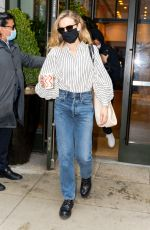 Carey Mulligan Checks out of her hotel after she hosted Saturday Night Live in New York