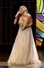 Carrie Underwood At 56th Academy of Country Music Awards in Nashville