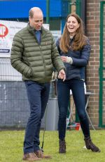Catherine Duchess of Cambridge Meets young people supported by the Cheesy Waffles Project - at the Belmont Community Centre