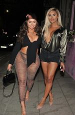 Chanelle McCleary On Girls Nightout with her friend in Manchester