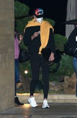 Charlize Theron Keeps a low profile as she is spotted leaving dinner with friends at Nobu in Malibu
