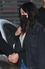 Courteney Cox Enjoys a romantic date night at Nobu restaurant in Malibu