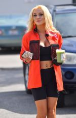 Courtney Stodden Seen stopping by a Starbucks in Palm Springs