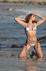 Devin Olson Shows off her sexy bikini body while shooting for 138 Brand in Malibu