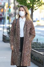 Dianna Agron Looks stylish in a leopard print overcoat while out in chilly New York