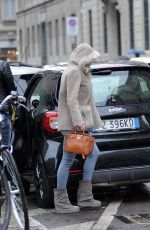 Diletta Leotta Returns home in the rain with Daniela Battaglia in Milan