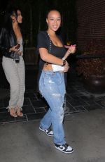 Draya Michele Looks casually chic while spotted leaving a late-night party in Hollywood