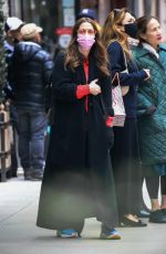 Drew Barrymore Looks all bundled up in New York