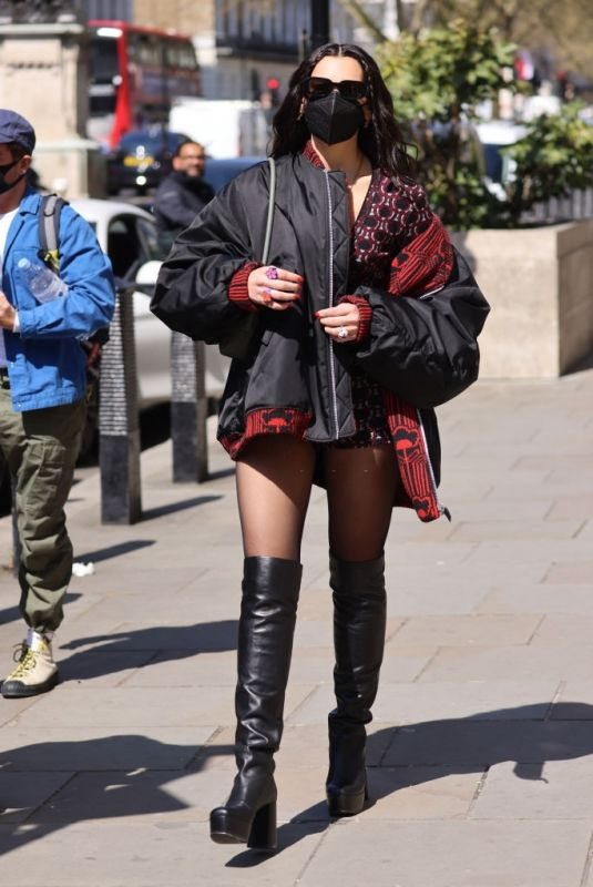 Dua Lipa At BBC Radio One in London after Live Lounge performance