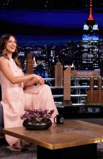 Eiza Gonzalez On The Tonight Show with Jimmy Fallon in New York