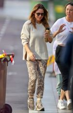 Elsa Pataky Wears leopard-print pants as she does some retail therapy at Bondi Junction in Sydney