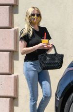 Emma Roberts Is spotted leaving a salon in Los Angeles