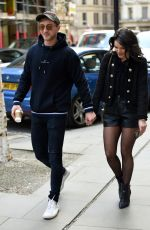 Faye Brookes and her boyfriend Joe Davies spotted at Evelyn House Of Hair and Beauty
