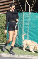 Georgia Fowler Spotted out and about with her pooch in Bondi