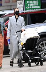 Gigi Hadid Out and about in New York City with her baby daughter and friend Helena Christensen