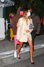Hailey Baldwin/Bieber & Justin Bieber Leaving after dinner with friends at San Vicente in West Hollywood