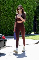 Hailey Baldwin & Kendall Jenner going to a workout session in LA
