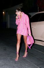 Hailey Bieber Out to dinner in West Hollywood