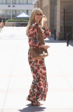 Heidi Klum Arrives in a beautiful spring dress for AGT taping in Los Angeles