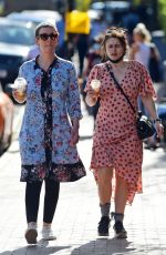 Helena Bonham Carter Steps out to enjoy the sunshine out in North London