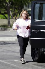Hilary Duff Spends the afternoon at the park with her family in Los Angeles