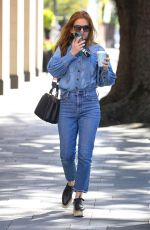 Isla Fisher Cross paths at White Rabbit cafe in Double Bay, Sydney
