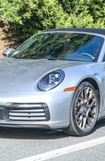 Jennifer Aniston Takes her Porsche 911 Targa for a joyride after Pilates class in West Hollywood