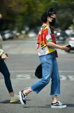 Jesse J Wears a colorful outfit while shopping at Maxfield