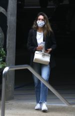 Jessica Alba Looks stylish arriving at her office in Los Angeles