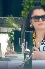 Jessie J Has lunch with a friend at Crossroads Kitchen in West Hollywood