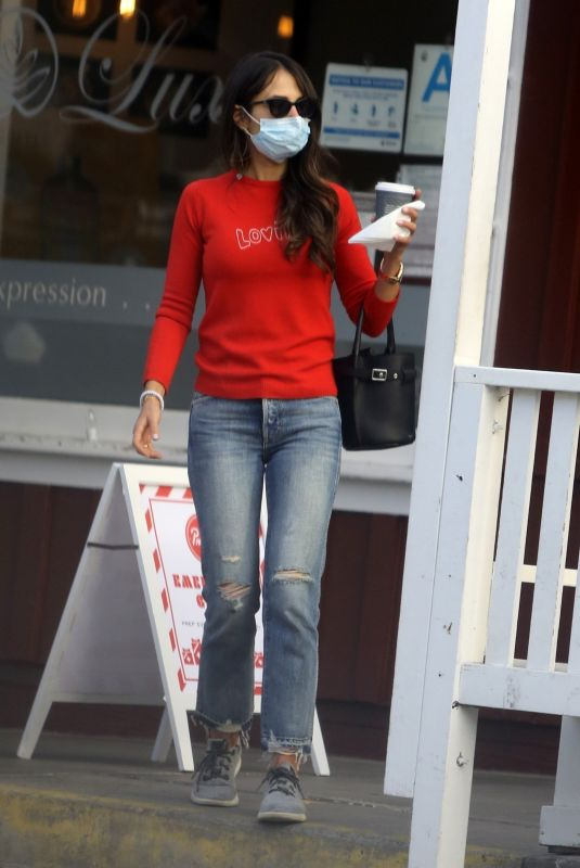 Jordana Brewster Steps out with her boyfriend for a coffee on her birthday in Los Angeles