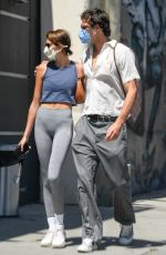 Kaia Gerber Goes for a hike with a friend before having lunch with boyfriend Jacob Elordi in Los Feliz