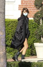 """Kaia Gerber Spotted on the set of """"American Horror Story"""" Season 10 in Burbank"""