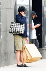 Katie Holmes Steps out solo for some shopping at A. P. C. in SoHo