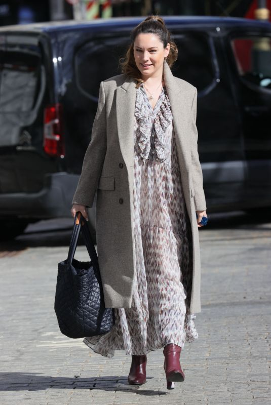 Kelly Brook Arriving at the Heart Radio Studios in London
