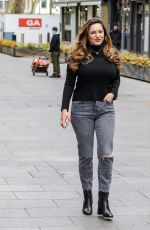 Kelly Brook Arriving for her Heart FM show at the Global Radio Studios in London