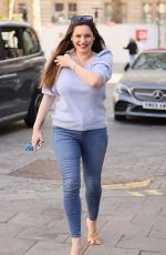 Kelly Brook Seen departing her Heart FM show at the Global Radio Studios in London
