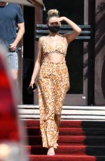 Kelsea Ballerini Wears a cute floral matching set as she leaves her hotel in Miami