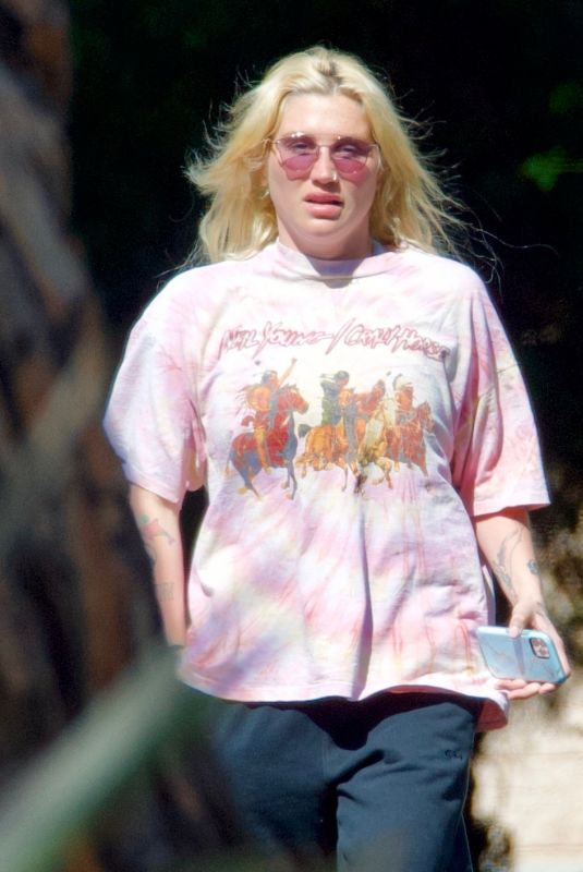 Kesha Takes an early morning stroll in West Hollywood