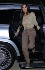 Kim Kardashian Goes braless as she heads out to dinner at La Scala in Beverly Hills
