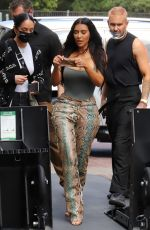 Kim Kardashian Shows off her curvy figure as she surprises fans at her SKIMS pop up shop at the Grove in Los Angeles