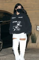 Kourtney Kardashian Steps out for a post birthday dinner with her son at Nobu in Malibu