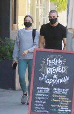 Kristen Bell Gets her sweat on during a PIlates class with a friend in Los Feliz